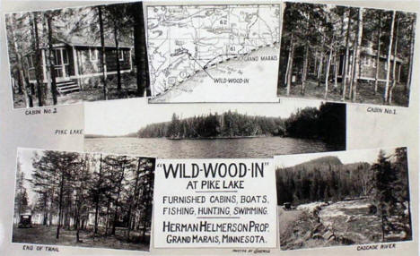 Wild-Wood-In at Pike Lake, Grand Marais Minnesota, 1930's