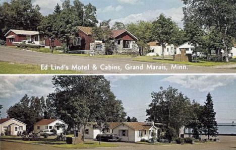 Ed Lind's Motel and Cabins, Grand Marais Minnesota, 1960