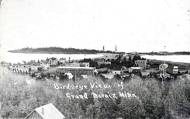 Birdseye view of Grand Marais Minnesota, 1910