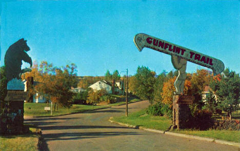 Entrance to the Gunflint Trail, Grand Marais Minnesota, 1958