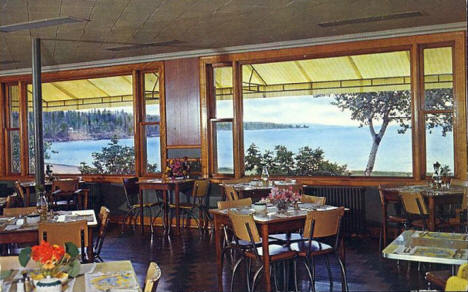 Hotel East Bay Restaurant, Grand Marais Minnesota, 1960's?