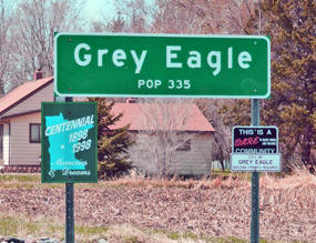Grey Eagle Minnesota Population Sign