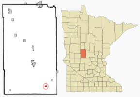 Location of Grey Eagle, Minnesota