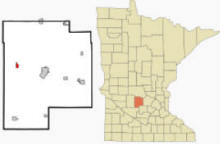 Location of Grove City, Minnesota
