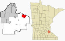 Location of Hastings Minnesota