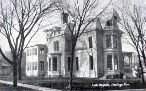 Latto Hospital, Hastings Minnesota, 1921