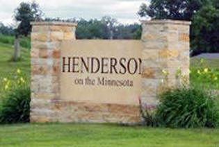 Henderson Minnesota sign