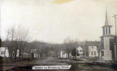 Street scene, Houston Minnesota, 1910's?