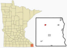 Location of Houston, Minnesota