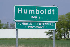 Humboldt Minnesota population sign