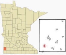 Location of Ihlen, Minnesota
