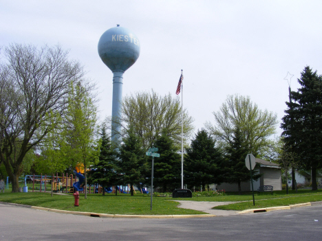 City Park and Water Tower, Kiester Minnesota, 2014