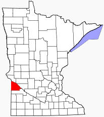 Location of Lac qui Parle County Minnesota