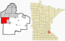 Location of Lakeville Minnesota