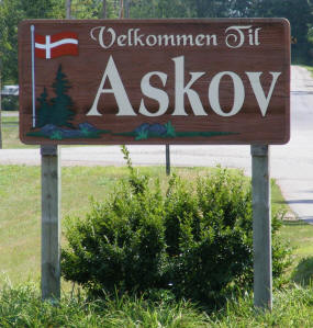Welcome to Askov Minnesota Sign
