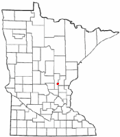 Location of Bock, Minnesota