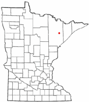 Location of Hoyt Lakes, Minnesota