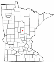 Location of Ironton, Minnesota