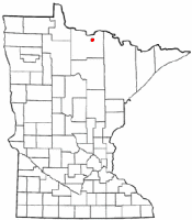 Location of Littlefork, Minnesota