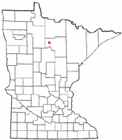 Location of Squaw Lake, Minnesota