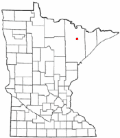 Location of Tower, Minnesota