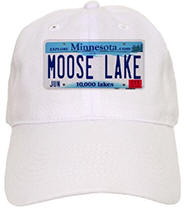 Moose Lake License Plate Cap