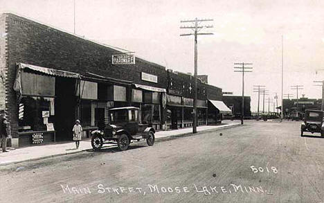 Main Street, Moose Lake Minnesota, 1927
