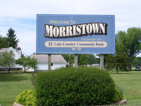 Welcome sign, Morristown Minnesota,  2010