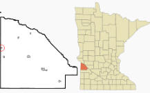 Location of Nassau, Minnesota