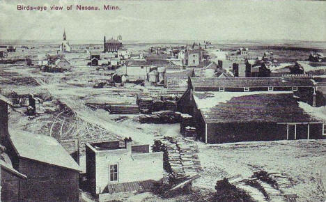 Birds eye view, Nassau Minnesota, 1910's
