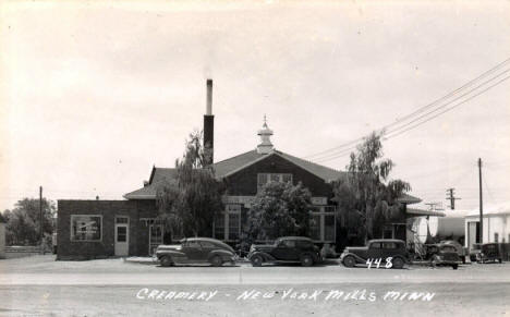 Creamery, New York Mills Minnesota, 1940's?