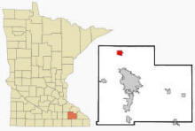 Location of Oronoco, Minnesota