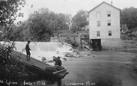 Clinton Falls and Mill, Owatonna Minnesota, 1910's