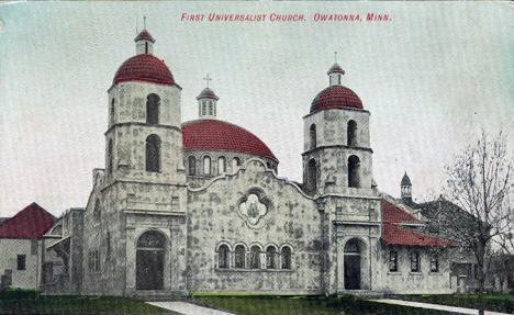 First Universalist Church, Owatonna Minnesota, 1910's?