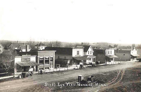 Birds eye view, Pennock Minnesota, 1908