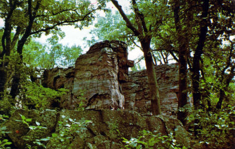 Old Stone Face of Leaping Rock, Pipestone National Monument, 1973
