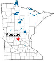 Location of Roscoe Minnesota
