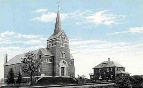 St. Agnes Church and Rectory, Roscoe Minnesota, 1910's?