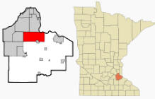 Location of Rosemount, Minnesota