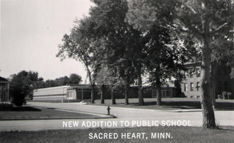 New addition to the Public School, Sacred Heart Minnesota, 1950's?