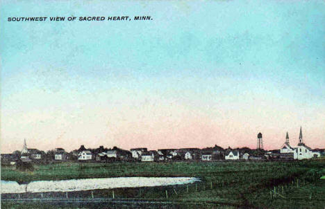 Southwest view of Sacred Heart Minnesota, 1910