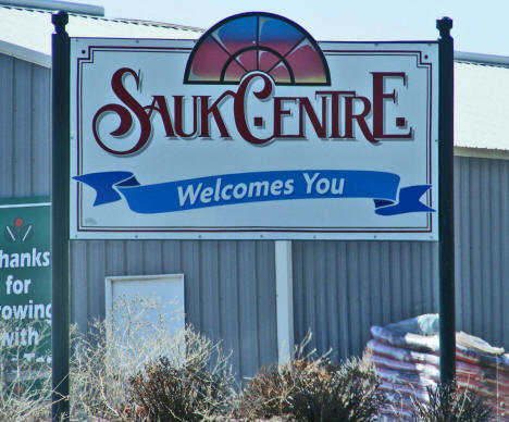 Welcome Sign, Sauk Centre Minnesota, 2009