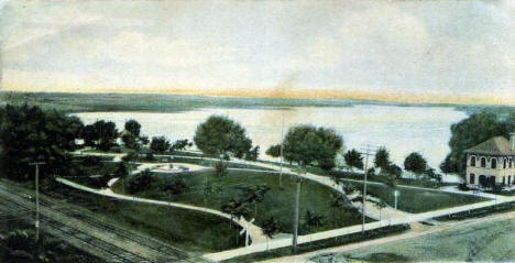 Lake & Park, Sauk Centre Minnesota, 1905