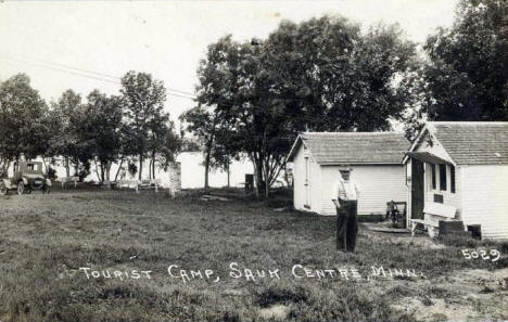 Tourist Camp, Sauk Centre Minnesota, 1920's?