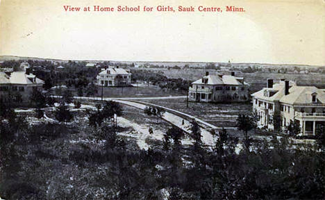 View of Home School for Girls, Sauk Centre Minnesota, 1910