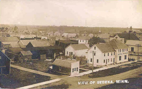 Birds-eye view of Sebeka Minnesota, 1910