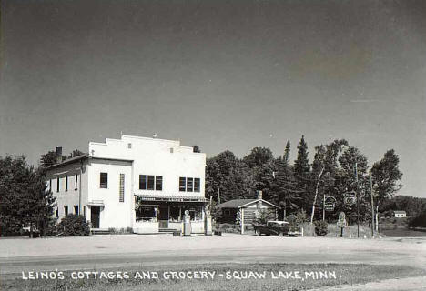 Leino's Cottages and Grocery,  Squaw Lake, Minnesota, 1950's