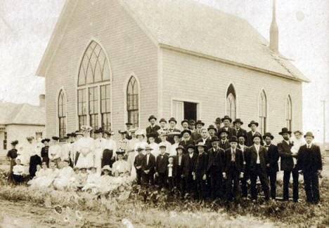 Church in St. Hilaire Minnesota, 1900's?