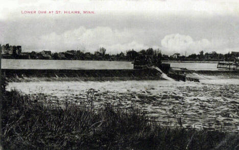 Lower Dam at St. Hilaire Minnesota, 1900's