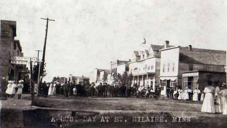 A Busy Day at St. Hilaire Minnesota, 1908